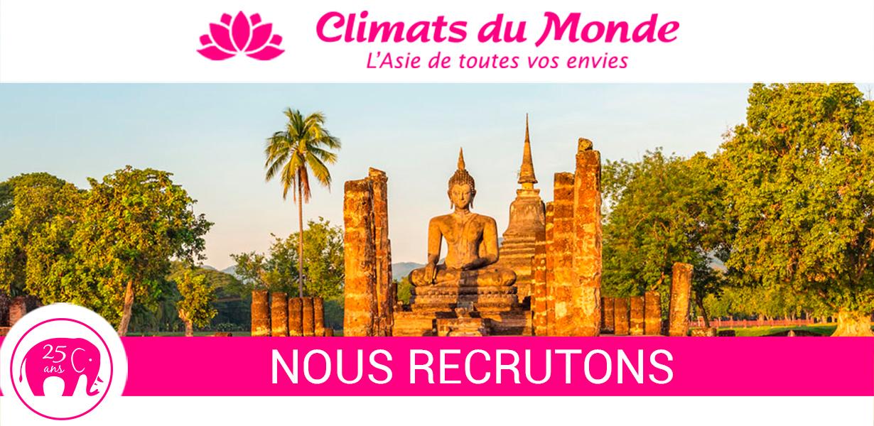 Climats du Monde recrute un CHEF DE RESERVATION TOUR OPERATEUR