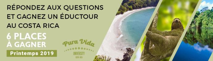 Répondez aux questions et gagnez un éductour au COSTA RICA